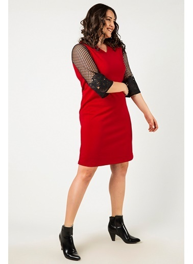 Womenice Elbise Kırmızı